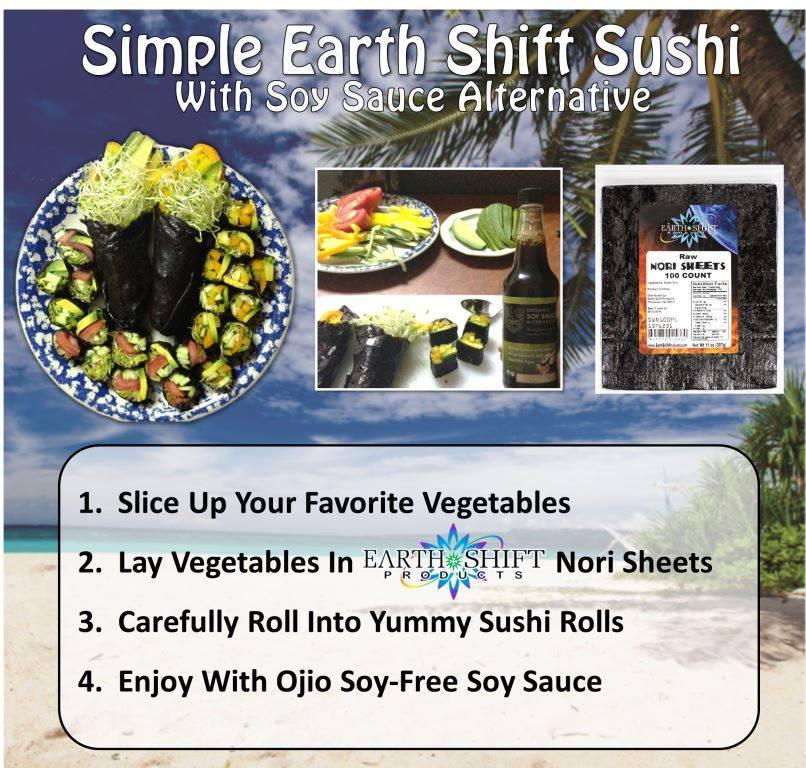 Sushi recipe card