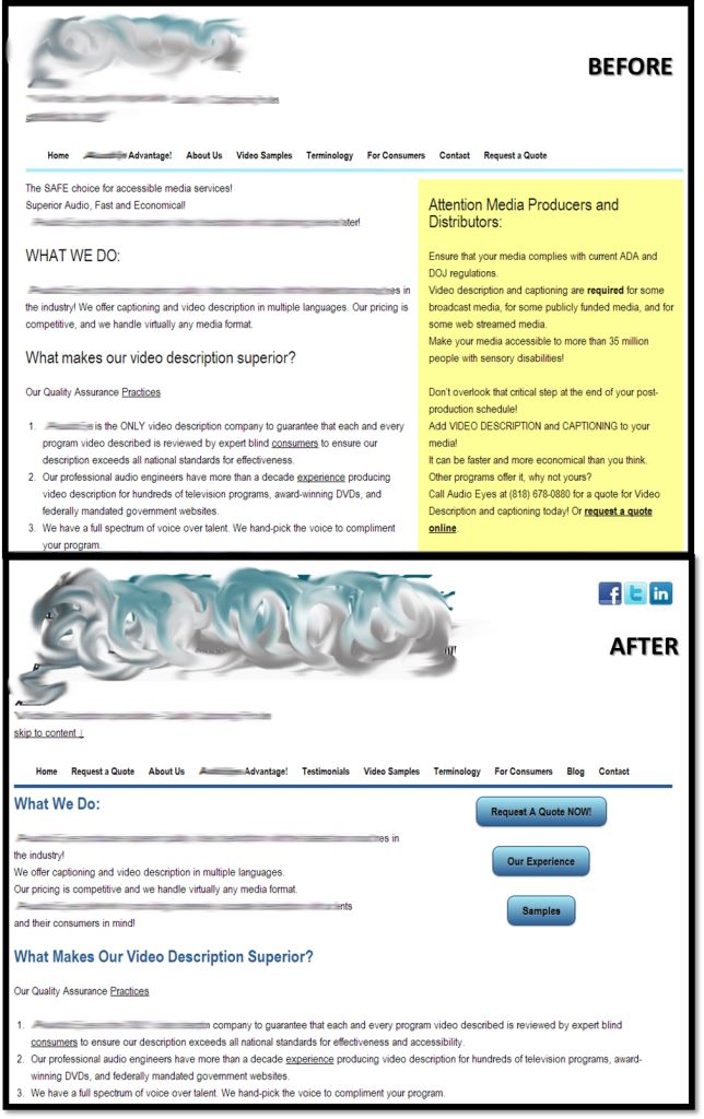 before and afterwebsite
