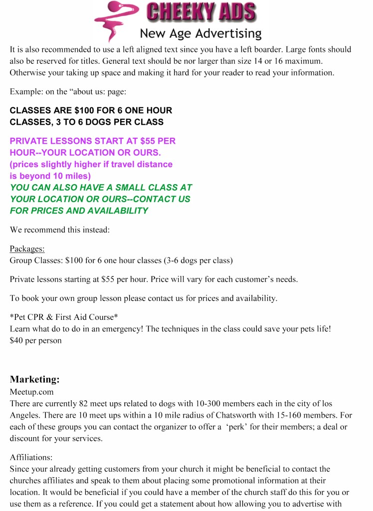 Care 4 your pet general consultation Notes 2