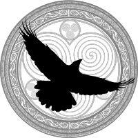 The logo for Raven's Cry Grove a LA local modern Druid Group