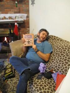 Opening chirstmas gift cookbook